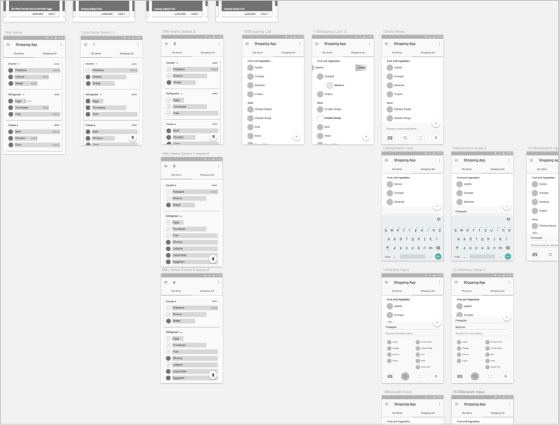 High-fid wireframe